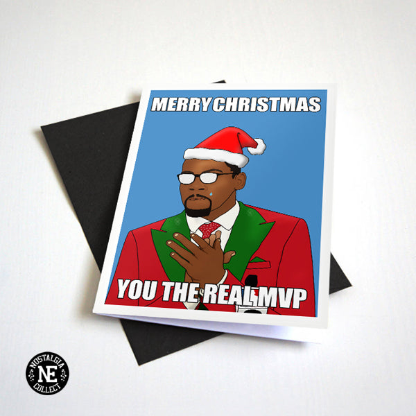 You The Real Christmas MVP Greetings Card
