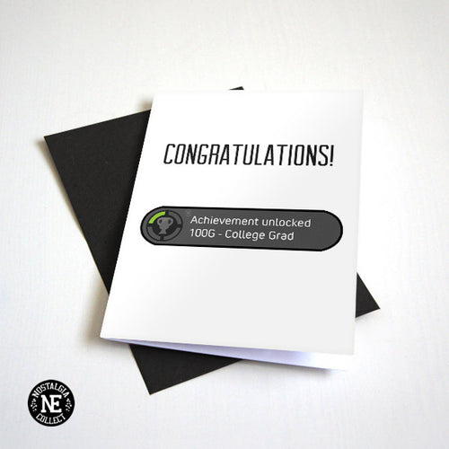 Achievement Unlocked Graduation Card - College