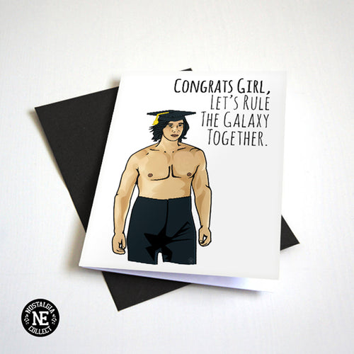 Shirtless Adam Driver Star Wars Kylo Red Graduation Card