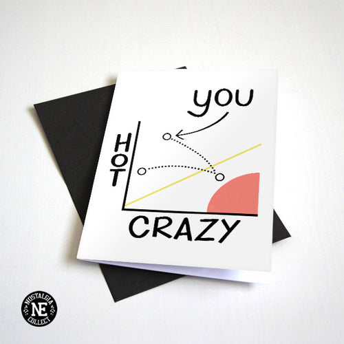 Crazy Hot Scale - Greeting Card For BFF / Girlfriend or Boyfriend