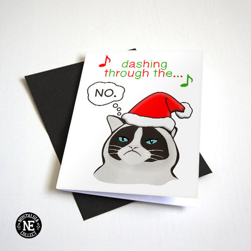 Dashing Through the No - Grumpy No Cat Seasons Greetings