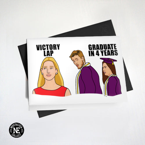 Distracted boyfriend meme graduation card
