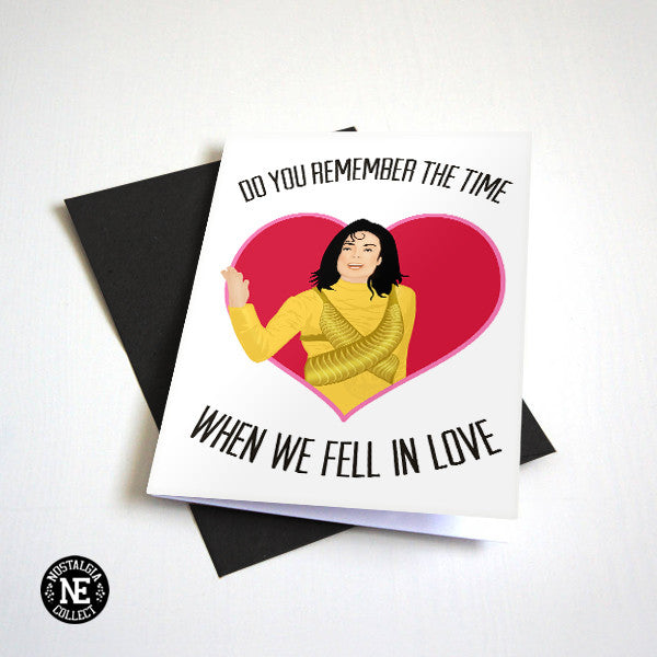 Do You Remember the Time - 90's Pop Valentine's Day Card