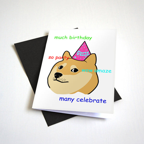 Doge Meme Graduation Card