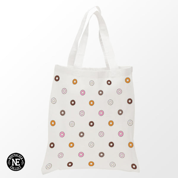 Strawberry Sprinkle Chocolate Donut Tote Bag