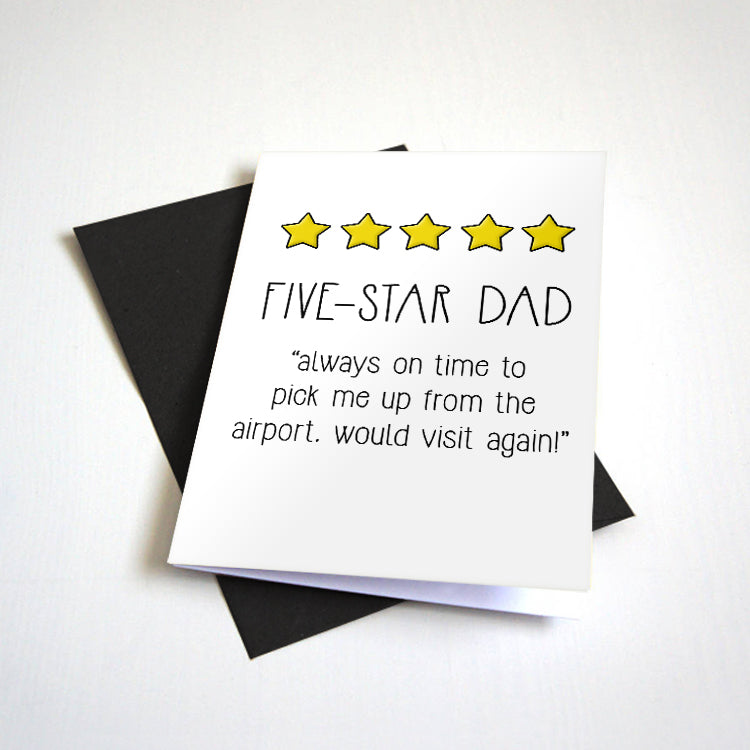 5 Star Dad - Father's Day Card - Top Ratings Review