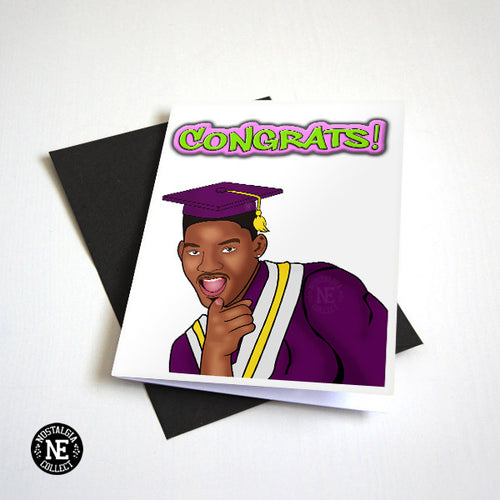 Fresh Prince Graduation Congrats card