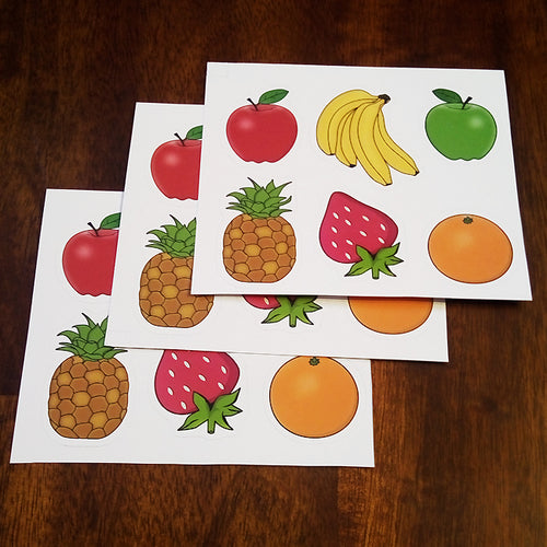 Apples and Oranges Fruity Sticker Set - 3 Pack
