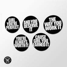 R&B Magnet Set: Earned It, Girl You're Perfect, You're Worth It