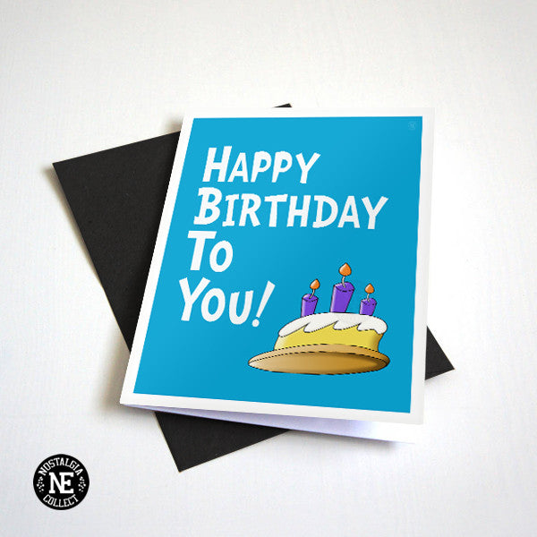 Happy Birthday to You! - Baby Blue Birthday Card