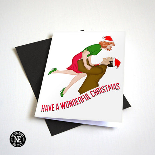 Its A Wonderful Christmas - Classic Movie Themed Christmas Card