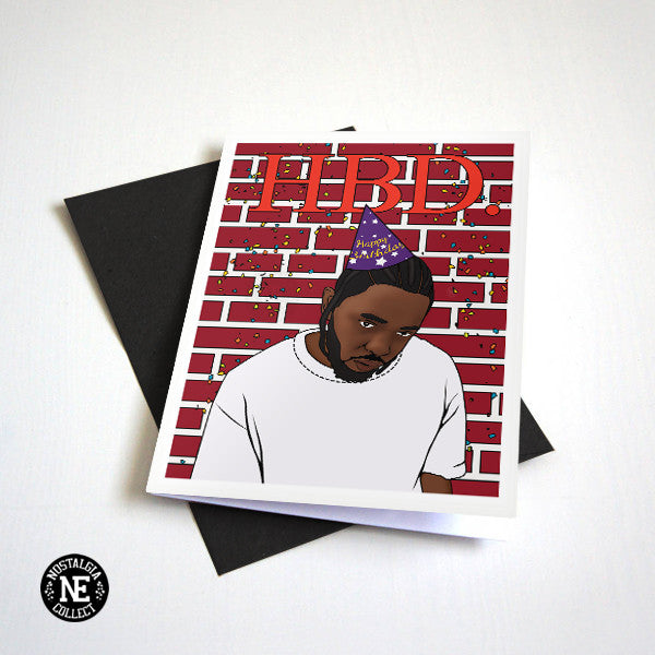 HBD. Funny Rap Hip Hop Birthday Card