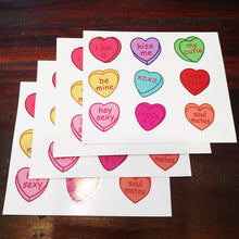 Heart Text Candy Valentine's Day Sticker Set - 4 Pack