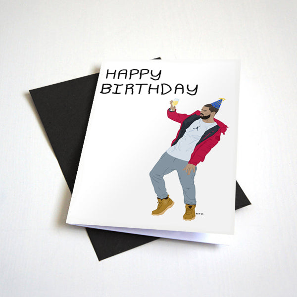 Dancing Hotline Birthday Card