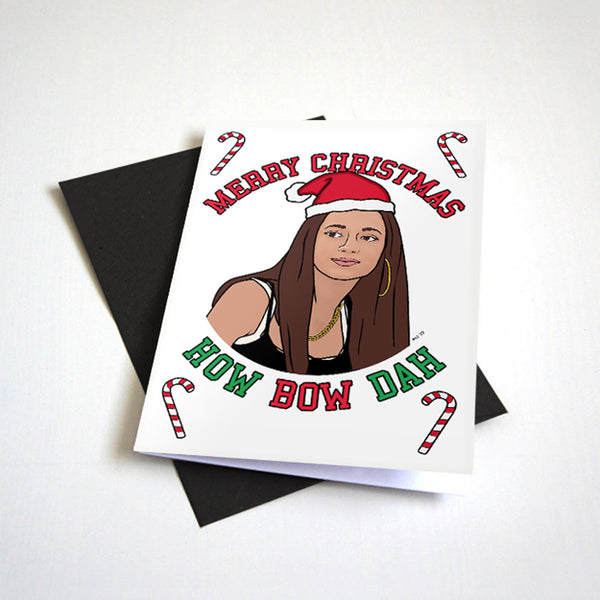 Merry Christmas How Bow Dah - Meme Christmas Card
