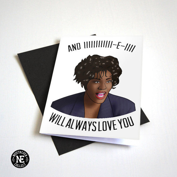 whitney houston card