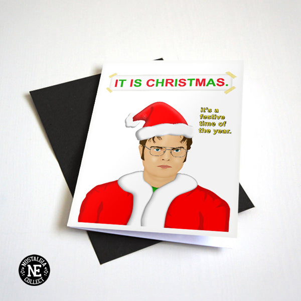 It Is Christmas - Festive TV Show Themed Christmas Card