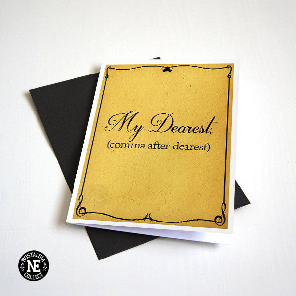 My Dearest Comma After Dearest - Broadway Muscial Anniversary or Valentine's Card