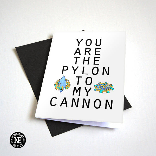 You Are the Pylon to My Photon- Gamer Couple Greeting Card