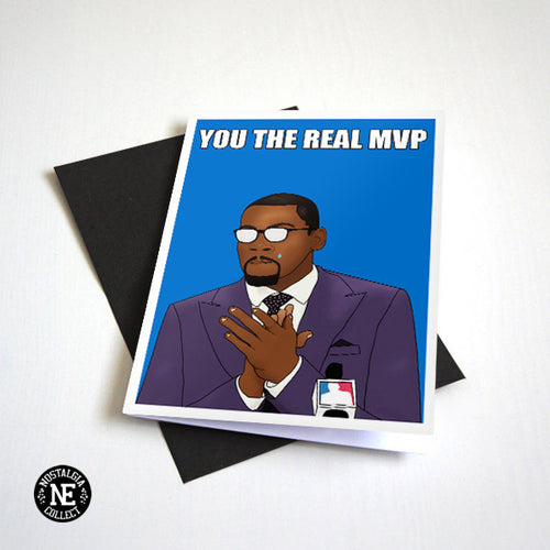 You The Real MVP Card - Funny Thank You Card - Appreciation Card