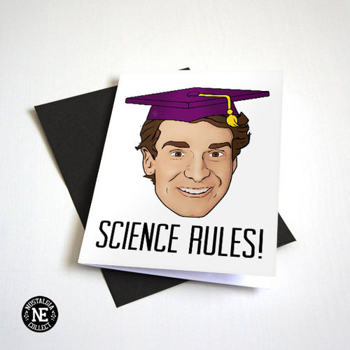 Science Graduation Card Bill Nye