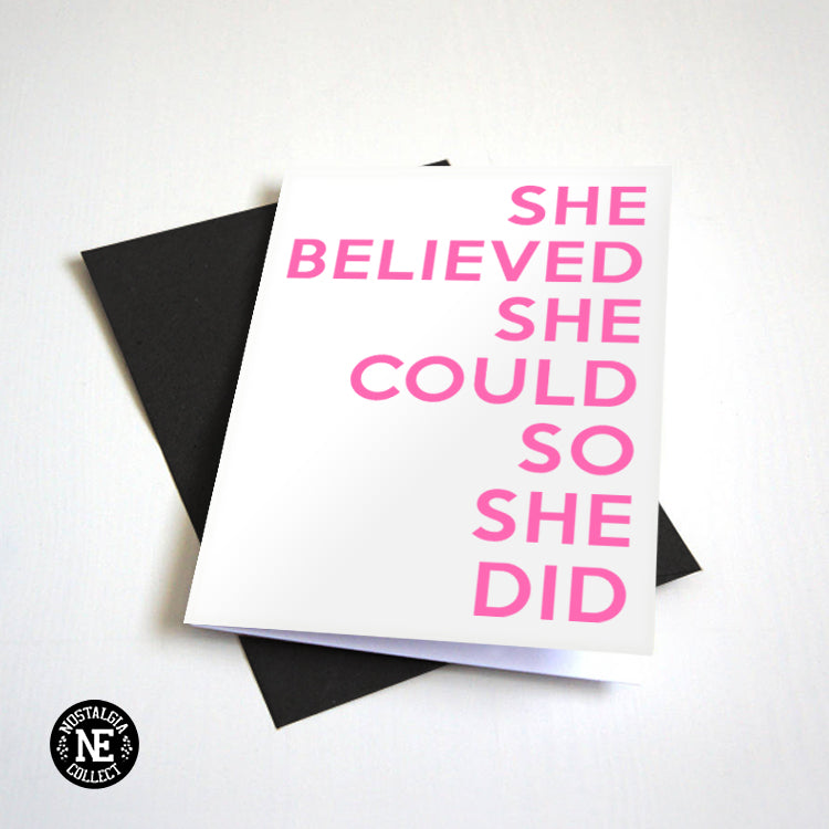 She Believed She Could So She Could Grad card