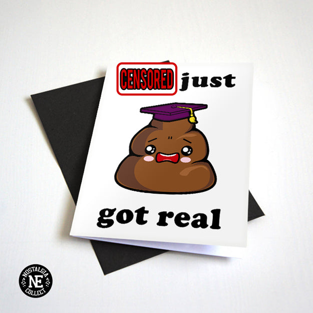 Poop Emoji Graduation Card 2018 Censored