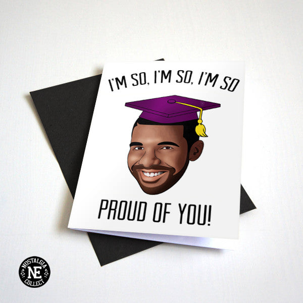 So Proud of You - Hip Hop Rap Graduation Card - Congrats Card