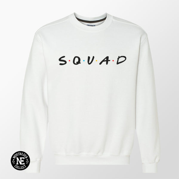 friends squad white sweater