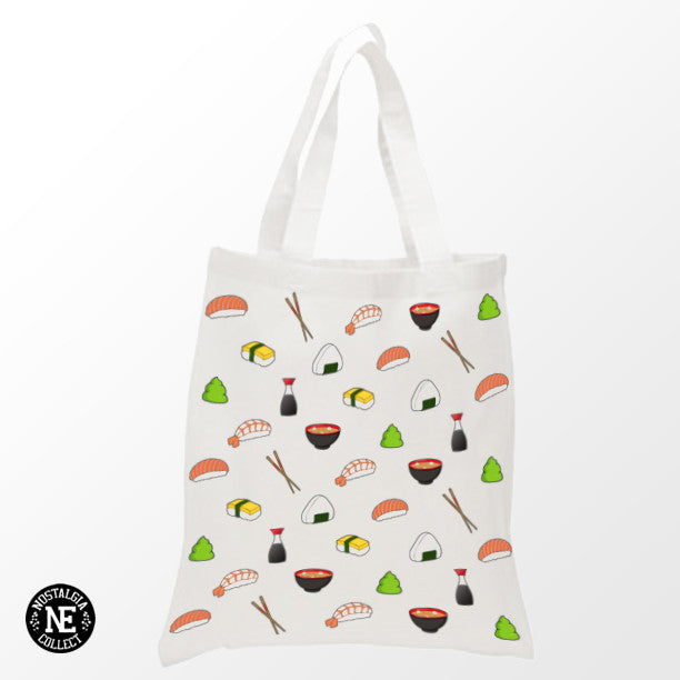 Sushi Pattern Tote Bag - Shopping Bag