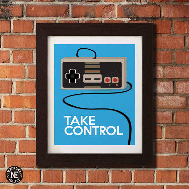 Take Control - Retro Vintage Gamer Poster