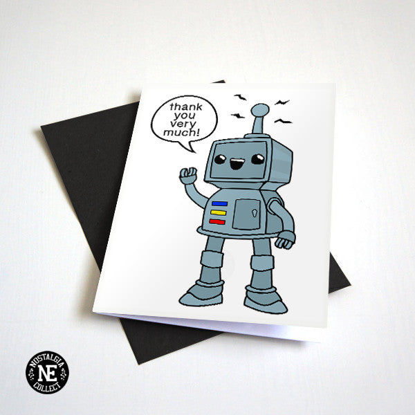 Domo Arigato - Thank You Very Much Robot - Appreciation Card