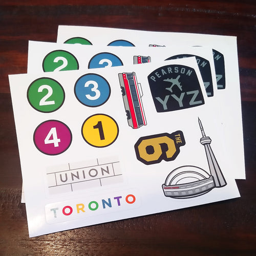 Toronto Landmarks and Icons Sticker Set - 3 Pack
