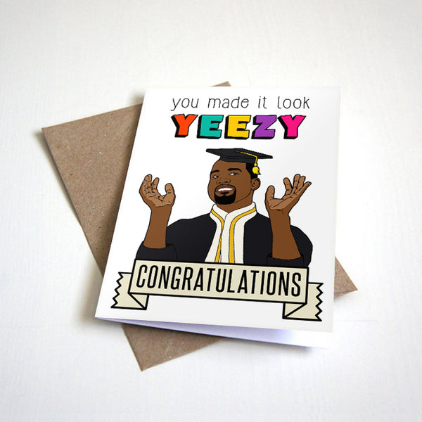 Made It Look Easy - Hip Hop Themed Graduation Card - Kangrutulations