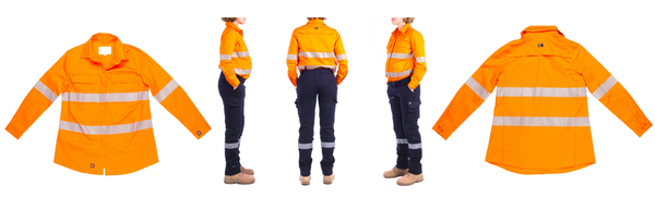 Mae Hi-Vis Maternity Pregnancy Workshirt