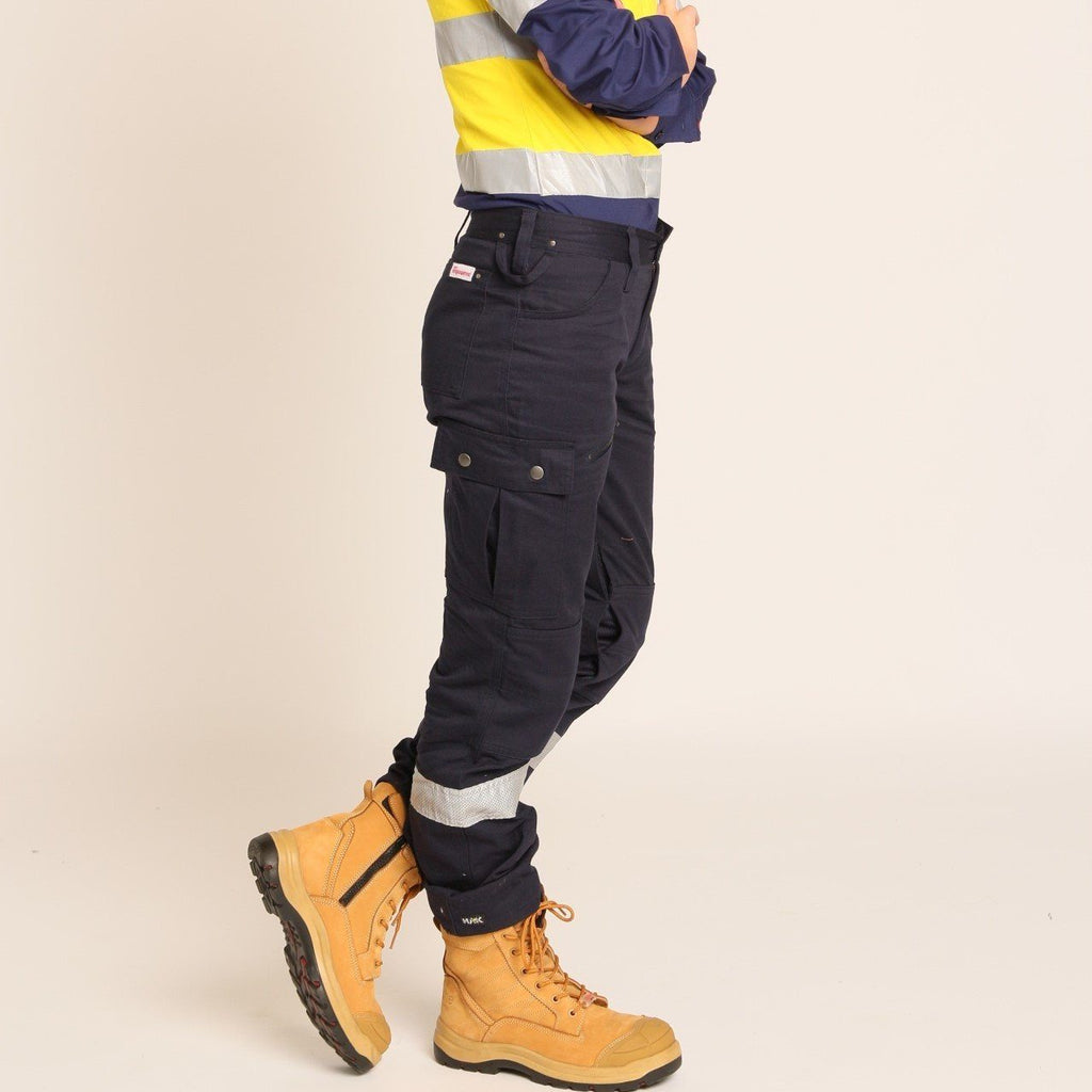 Women's Alice Hi Vis navy cargos Long cargos Co Gear