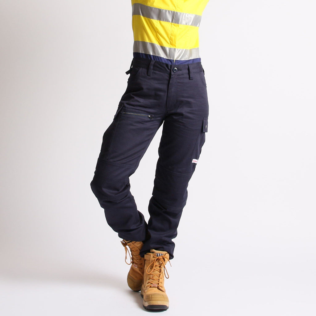cargo pants for women, navy blue cargo pants, ladies work pants, women's cargo pants, outdoor workwear, outdoor work pants, women's workwear afterpay, free shipping