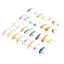 Hot sale 30pcs/lot Minnow Lures/Popper Lures/Crank Lures
