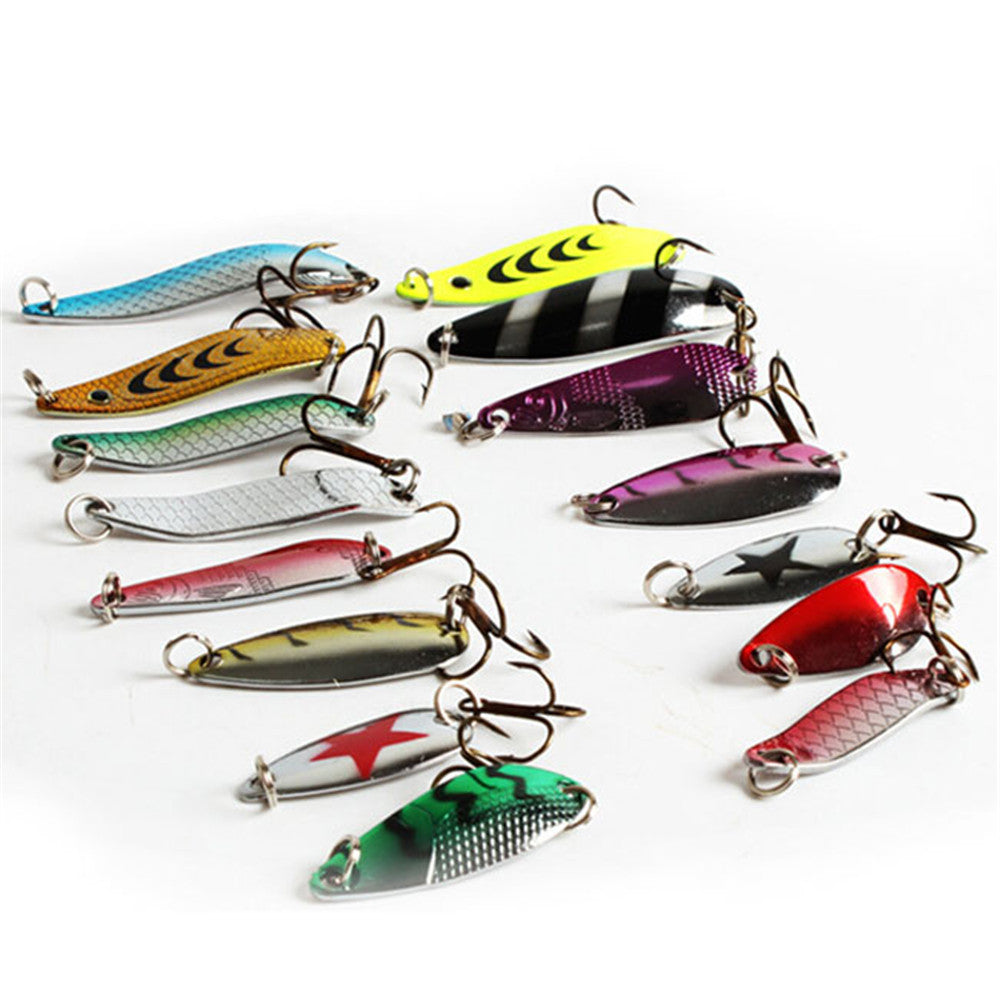 30pcs Artificial Bait Fishing Lure Kit 3-7g Minnow/Popper Spinner Spoon