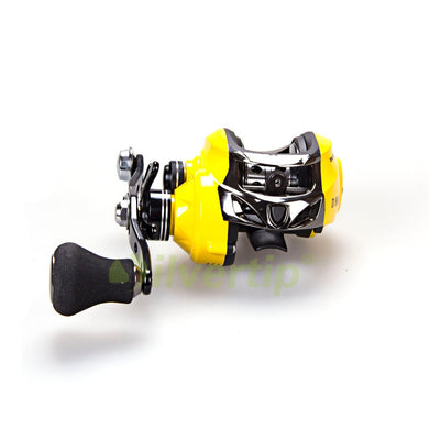 New 13+1 BB 7.0:1  Magnetic Yellow Baitcasting Reel