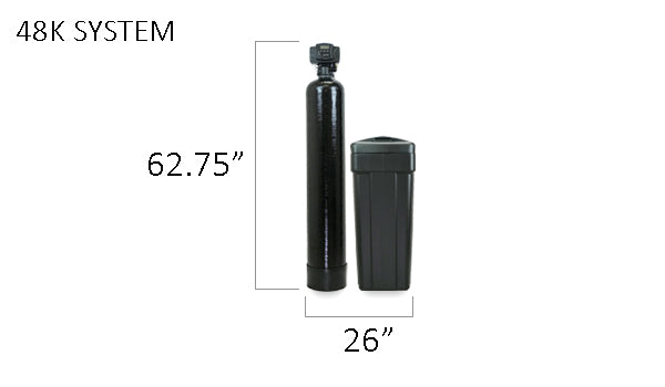 48k Water Softener Size