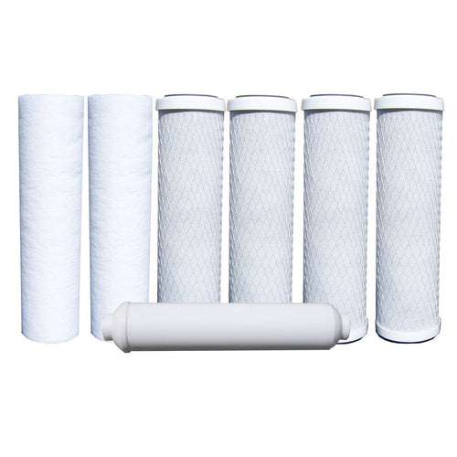 ABCwaters WELL WATER RO Filters 1-Year 5-Stage Reverse Osmosis Replacement Filter Kit