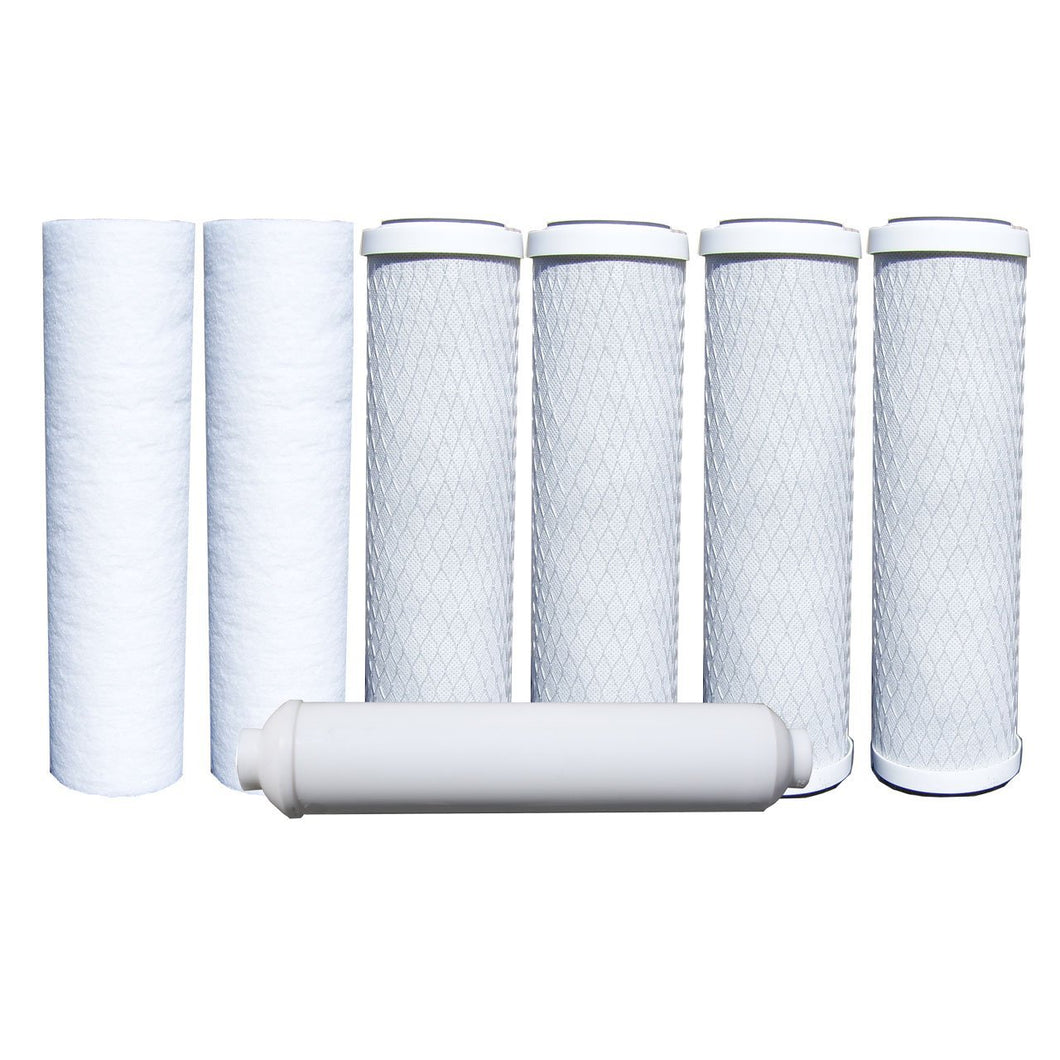 ABCwaters 7 Pack RO Filters 1-Year 5-Stage Reverse Osmosis Replacement Filter Kit
