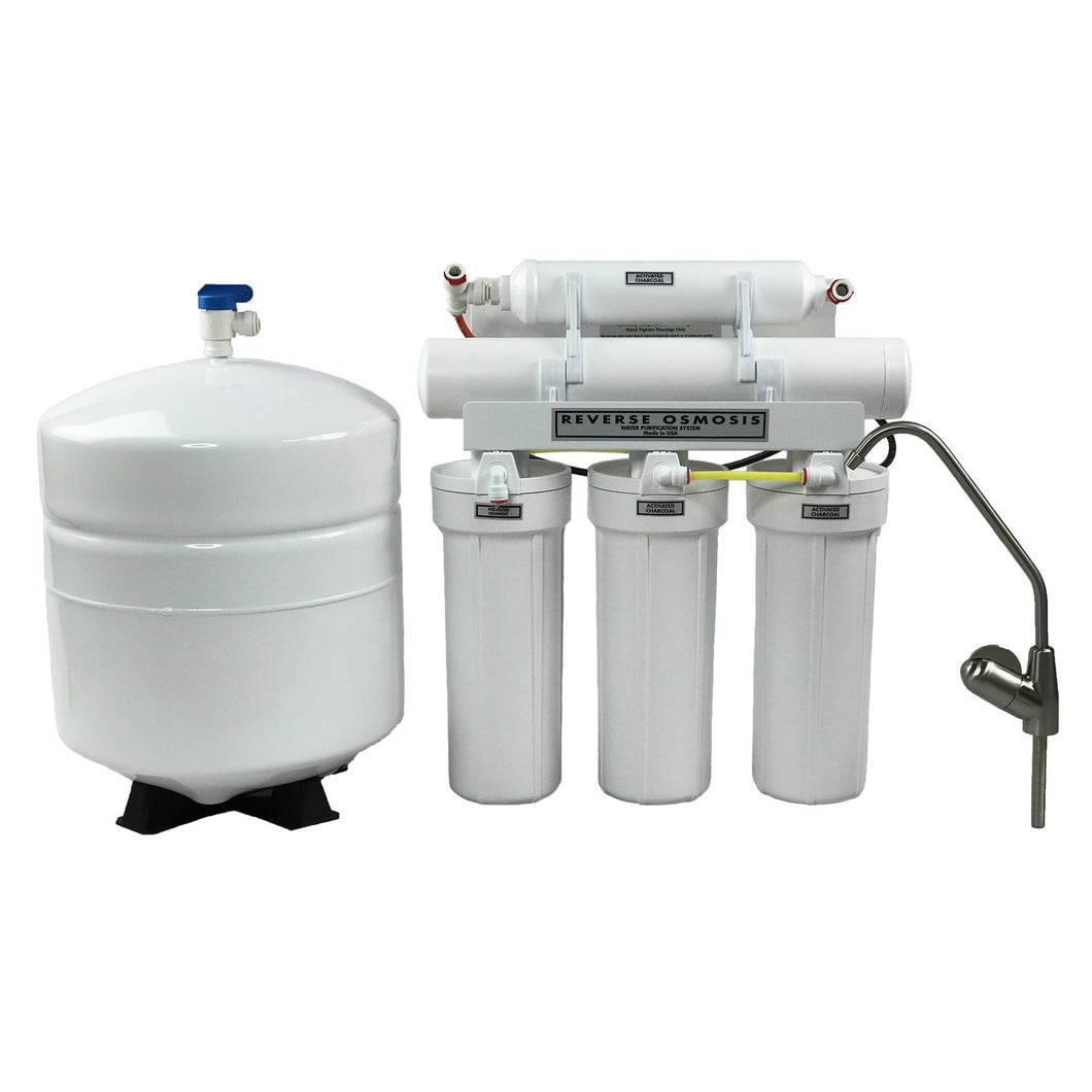 138ce3394d4 ABCwaters Built 5 Stage High Efficiency RO Drinking Water Filter Systems  (75 GPD)