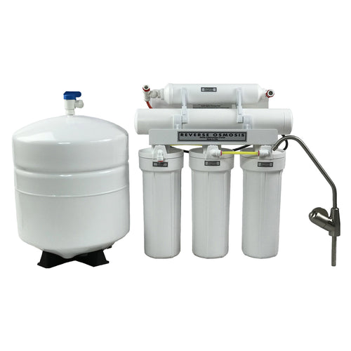 ABCwaters Built 5 Stage High Efficiency RO Drinking Water Filter Systems (75 GPD) with Replacement Filters