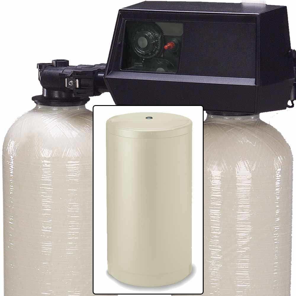 ABCwaters built Fleck 9100 Twin Tank Water Softener System - Mechanical  Valve