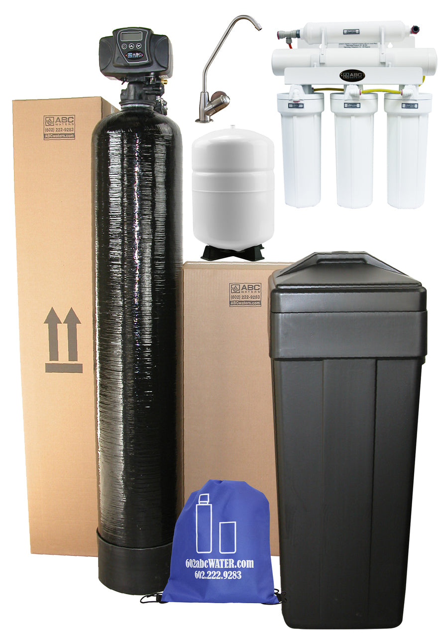 abcwaters built fleck 5600sxt whole house water softener with 5 stage high efficiency ro