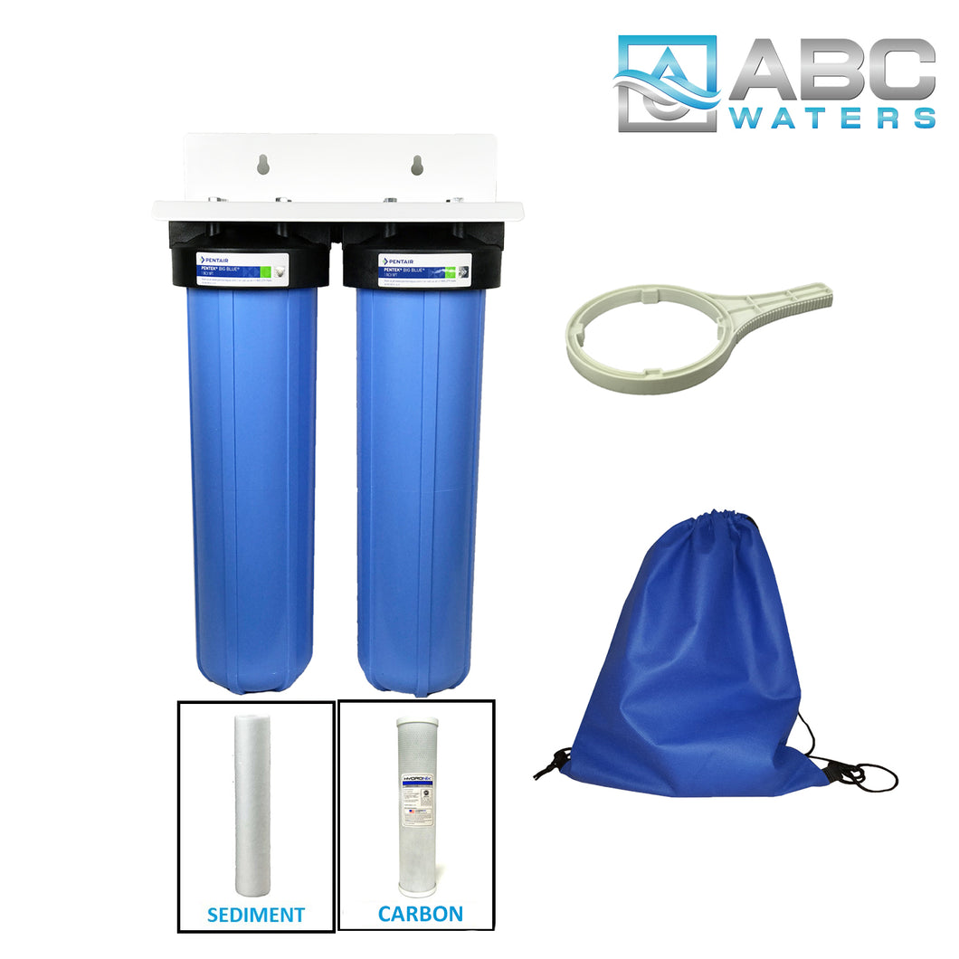ABCwater Built Big Blue Water Filtration System- 5 Micron (2 Stage System)