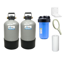 "TRIPLE COMBO - Portable Water Softener 16,000 Capacity with Carbon Filtration (GAC) & Big Blue Sediment Filtration - 10x18"" LARGE"