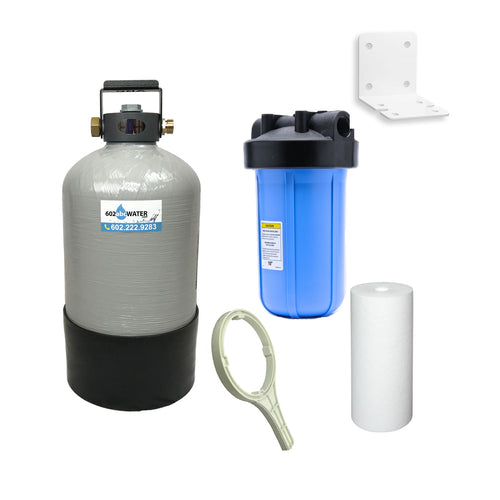 COMBO - Portable Water Softener 16,000 Capacity with 10
